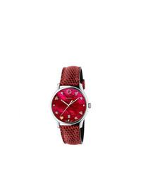 rote Uhr von Gucci