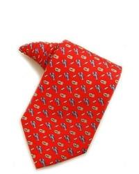 rote und dunkelblaue bedruckte Krawatte