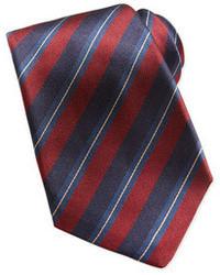 rote und dunkelblaue vertikal gestreifte Krawatte