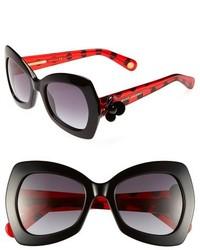 rote und schwarze Sonnenbrille