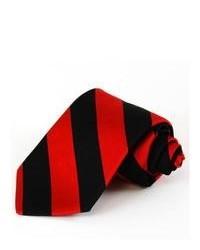 rote und schwarze vertikal gestreifte Krawatte