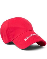 rote und weiße bedruckte Baseballkappe von Balenciaga