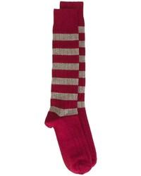 rote und weiße horizontal gestreifte Socken von Church's