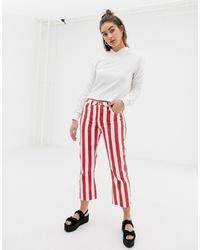 rote und weiße Jeans von Glamorous