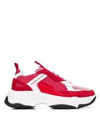 rote und weiße Sportschuhe von Calvin Klein Jeans