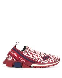 rote und weiße Sportschuhe von Dolce & Gabbana