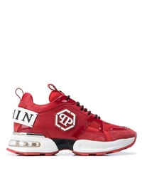 rote und weiße Sportschuhe von Philipp Plein