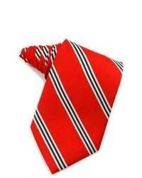 Rote vertikal gestreifte Krawatte