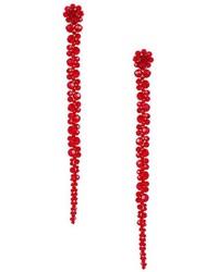 rote Perlen Ohrringe mit Blumenmuster von Simone Rocha