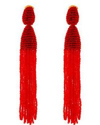 rote verziert mit Perlen Ohrringe