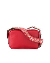 rote verzierte Leder Umhängetasche von RED Valentino