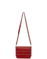 rote verzierte Leder Umhängetasche von Valentino