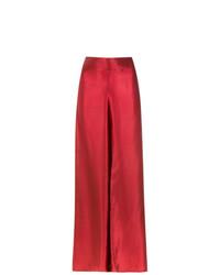rote weite Hose aus Seide von Amir Slama