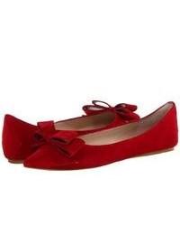 rote Wildleder Ballerinas