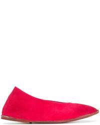 rote Wildleder Ballerinas von Marsèll