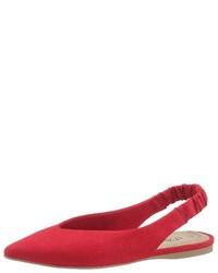 rote Wildleder Ballerinas von s.Oliver