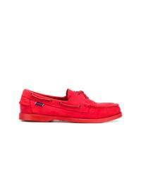 rote Wildleder Bootsschuhe von Sebago