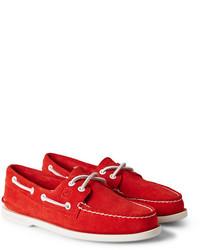 rote Wildleder Bootsschuhe von Sperry