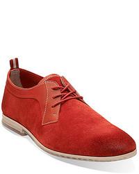 rote Wildleder Derby Schuhe