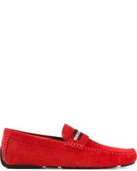 rote Wildleder Mokassins von Bally