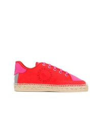 rote Wildleder niedrige Sneakers von Stella McCartney