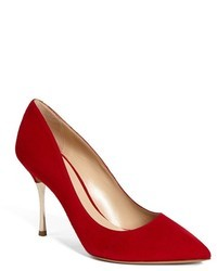 Rote Wildleder Pumps