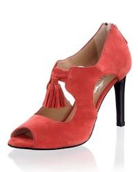 rote Wildleder Pumps von Alba Moda