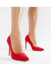 rote Wildleder Pumps von ASOS DESIGN