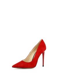 rote Wildleder Pumps von Evita