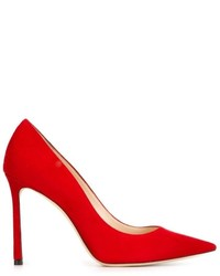 rote Wildleder Pumps von Jimmy Choo