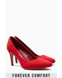 rote Wildleder Pumps von NEXT