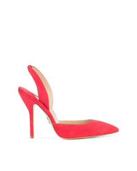 rote Wildleder Pumps von Paul Andrew