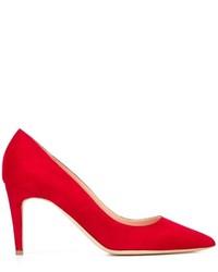 Rote Wildleder Pumps von Rupert Sanderson