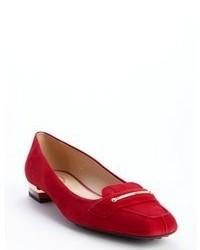 rote Wildleder Slipper