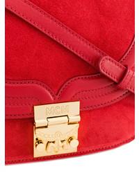 rote Wildleder Umhängetasche von MCM, €929 |