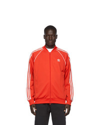 rote Windjacke von adidas Originals