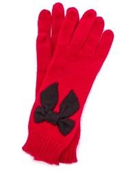 rote Wollhandschuhe von Kate Spade