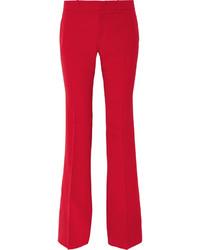 rote Wollschlaghose von Gucci
