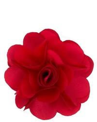 roter Anstecknadel mit Blumenmuster