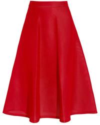 roter ausgestellter Rock von DKNY