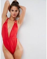 roter Badeanzug von Asos