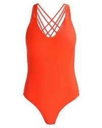 roter Badeanzug von YAS