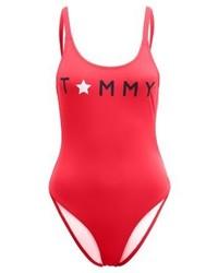 roter bedruckter Badeanzug von Tommy Hilfiger