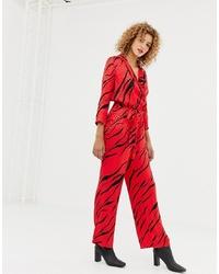 roter bedruckter Jumpsuit von Only