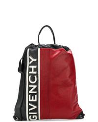 roter bedruckter Leder Rucksack von Givenchy