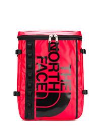roter bedruckter Leder Rucksack von The North Face