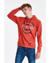 roter bedruckter Pullover mit einem Kapuze von BLEND