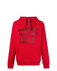 roter bedruckter Pullover mit einem Kapuze von Lanvin