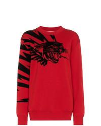 roter bedruckter Pullover mit einem Rundhalsausschnitt von Givenchy