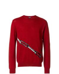 roter bedruckter Pullover mit einem Rundhalsausschnitt von Lanvin